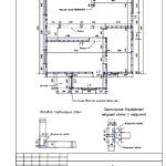 2-5 План установки несущих стен 1 этажа