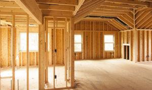 Каркасный дом внутри, деревянный каркас