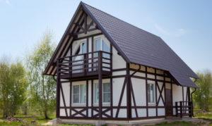 Каркасный дом снаружи в стиле фахверк