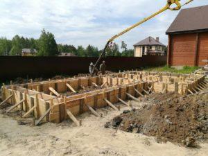 Фундамент для бани с хозяйственным блоком