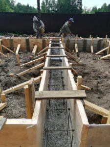 Фундамент для бани с хозяйственным блоком 2