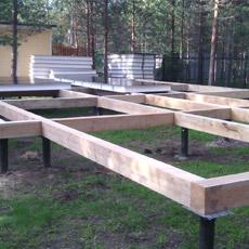 Установка фундамента в Тюмени для дома, бани и гаража