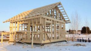 Строим каркасные дома в Тюмени зимой