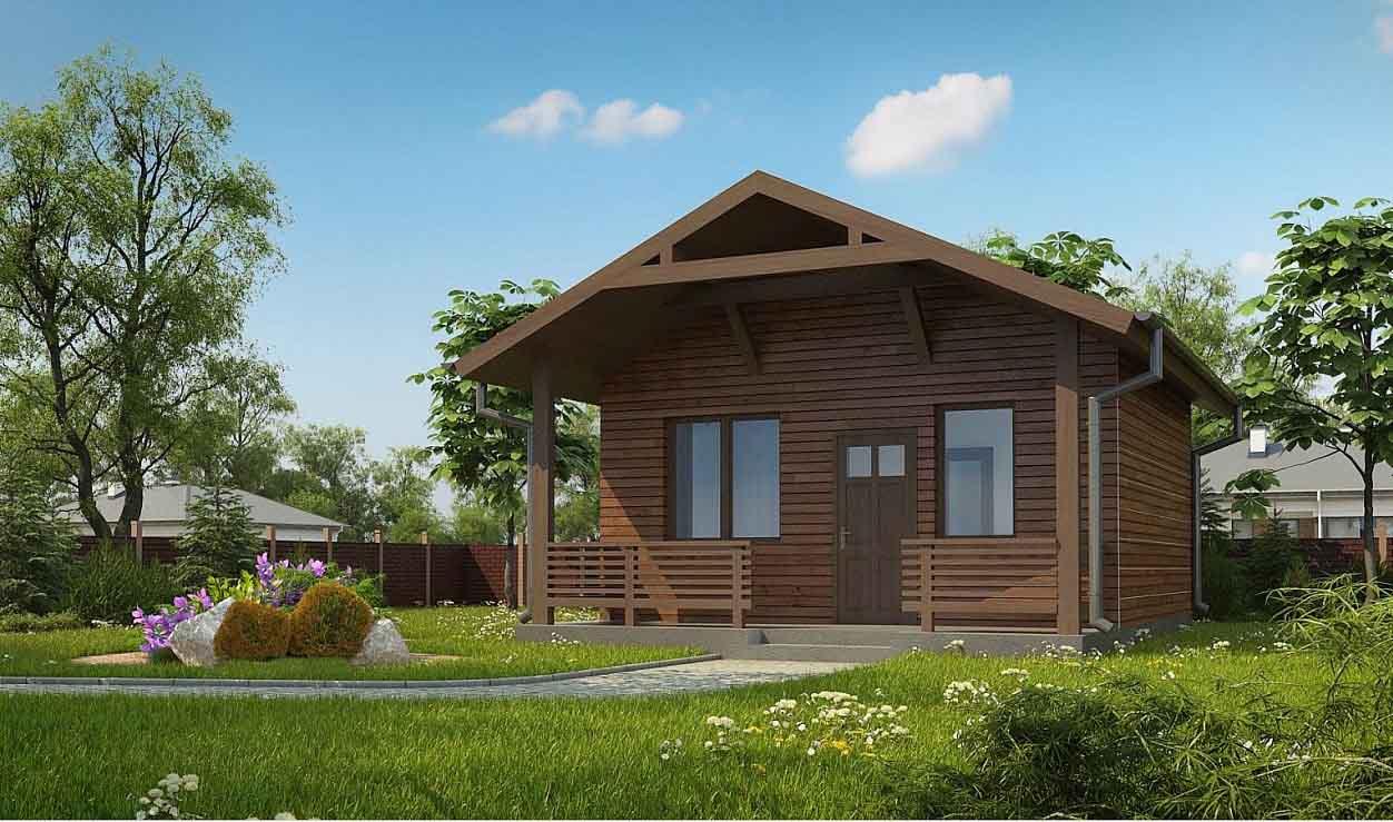 Проект дома из оцилиндрованного бревна в Тюмени b1-32-1
