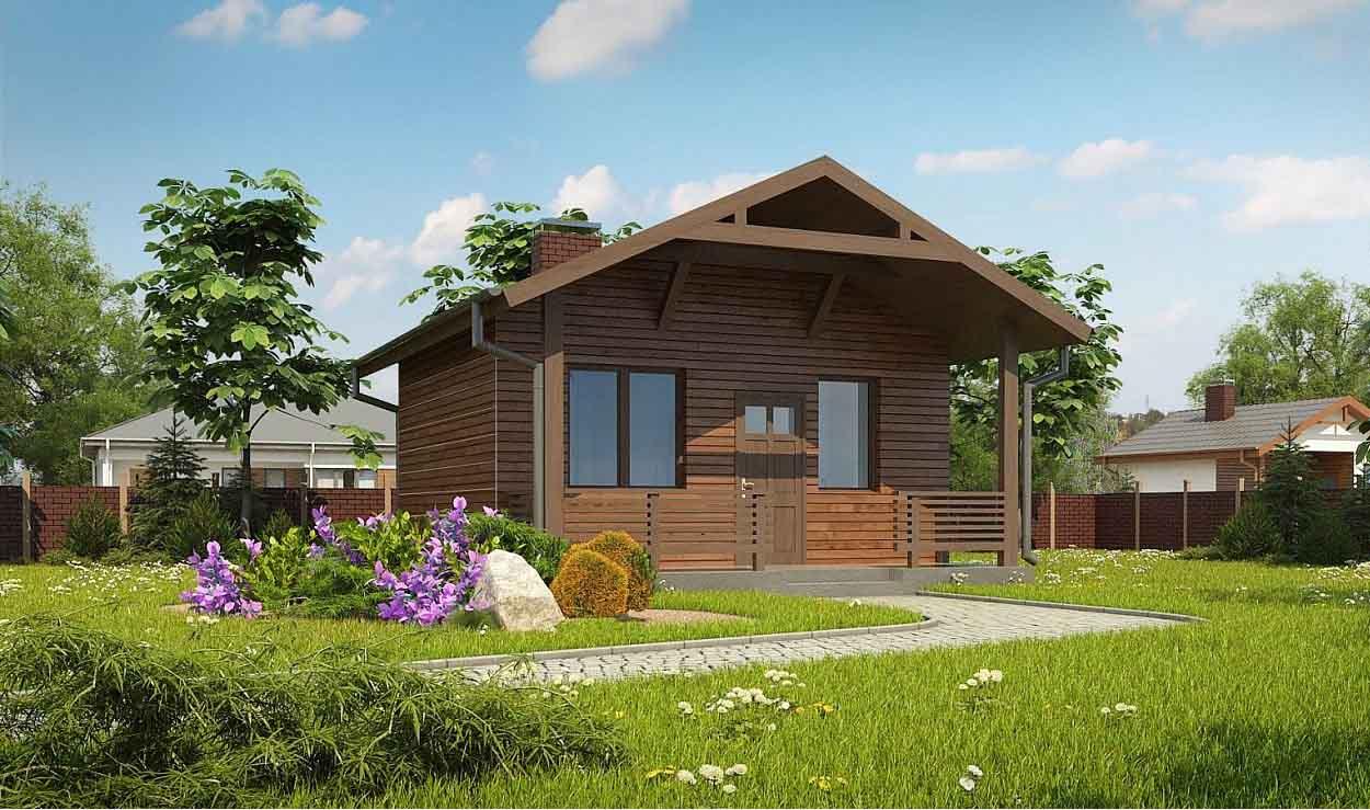 Проект дома из оцилиндрованного бревна в Тюмени b1-32-2