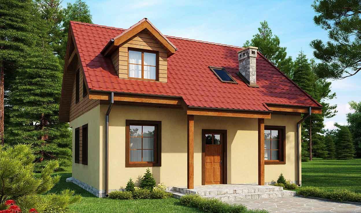 Проект дома с мансардой из оцилиндрованного бревна в Тюмени m13-150-2