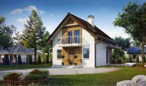 Проект каркасного дома с мансардой в Тюмени m2-110-1