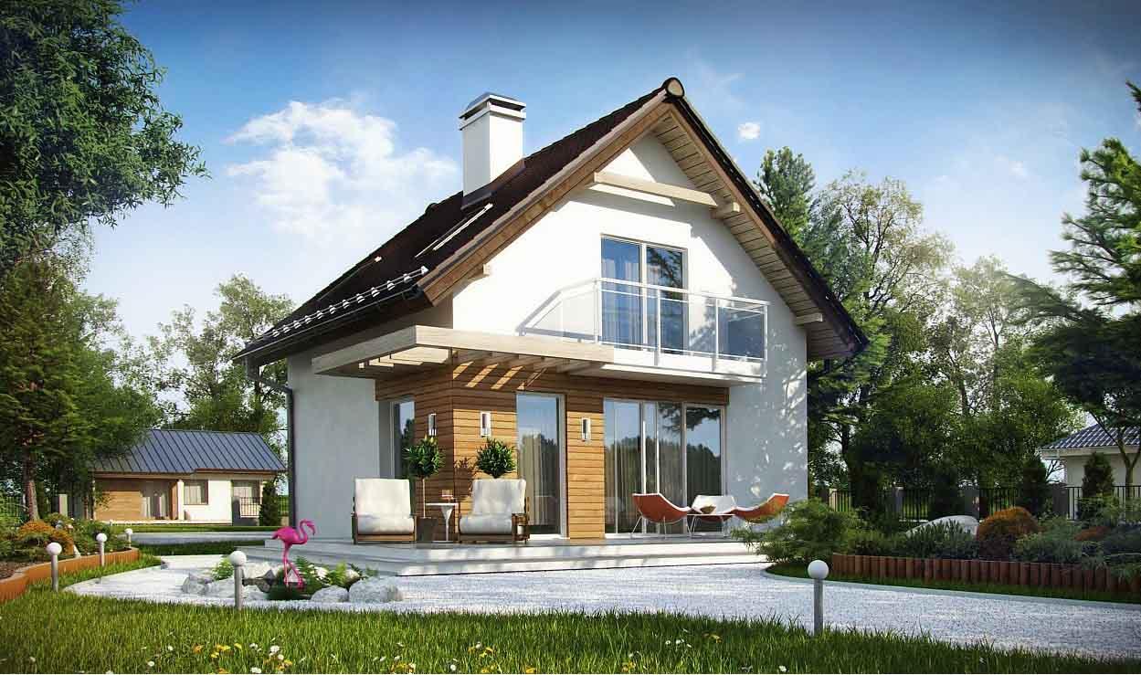 Проект каркасного дома с мансардой в Тюмени m2-110-2