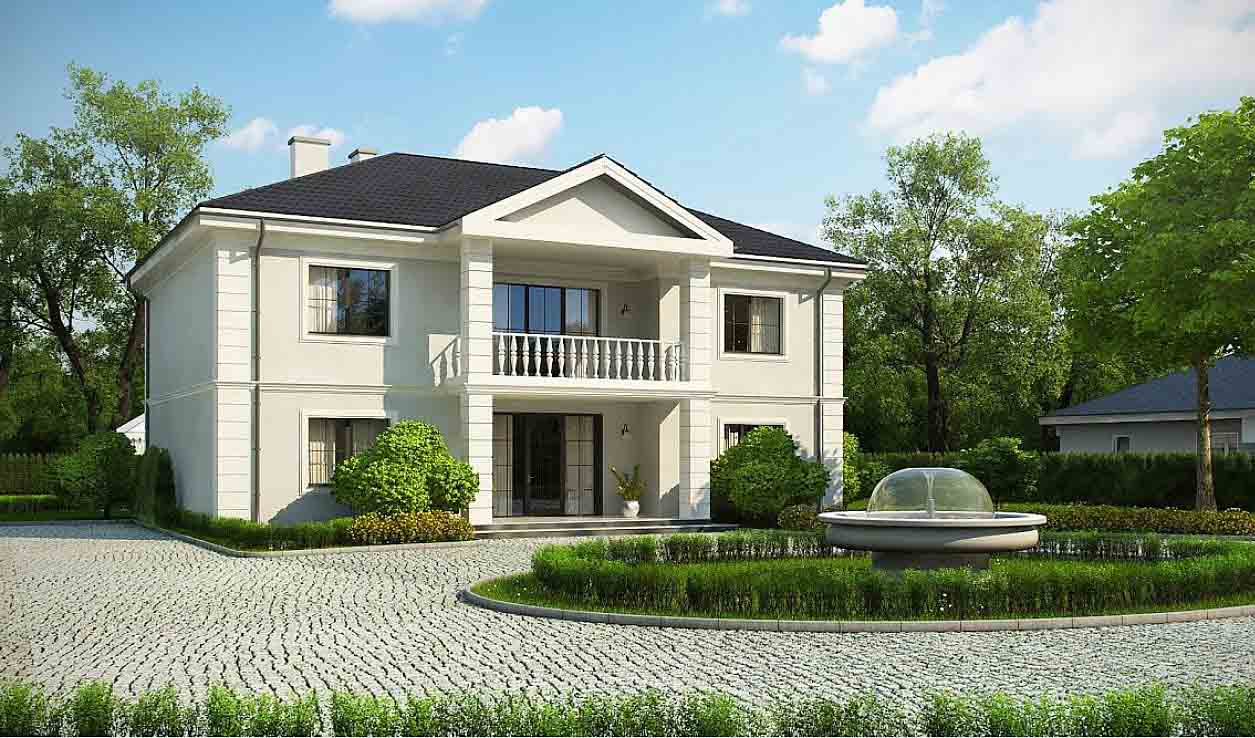 Проект двухэтажного дома из газоблоков в Тюмени n81-389-1