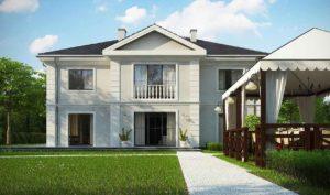 Проект двухэтажного дома из газоблоков в Тюмени n81-389-2