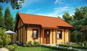 Проект одноэтажного дома из клееного бруса в Тюмени s1-148-1