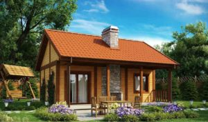 Проект одноэтажного дома из клееного бруса в Тюмени s1-148-2