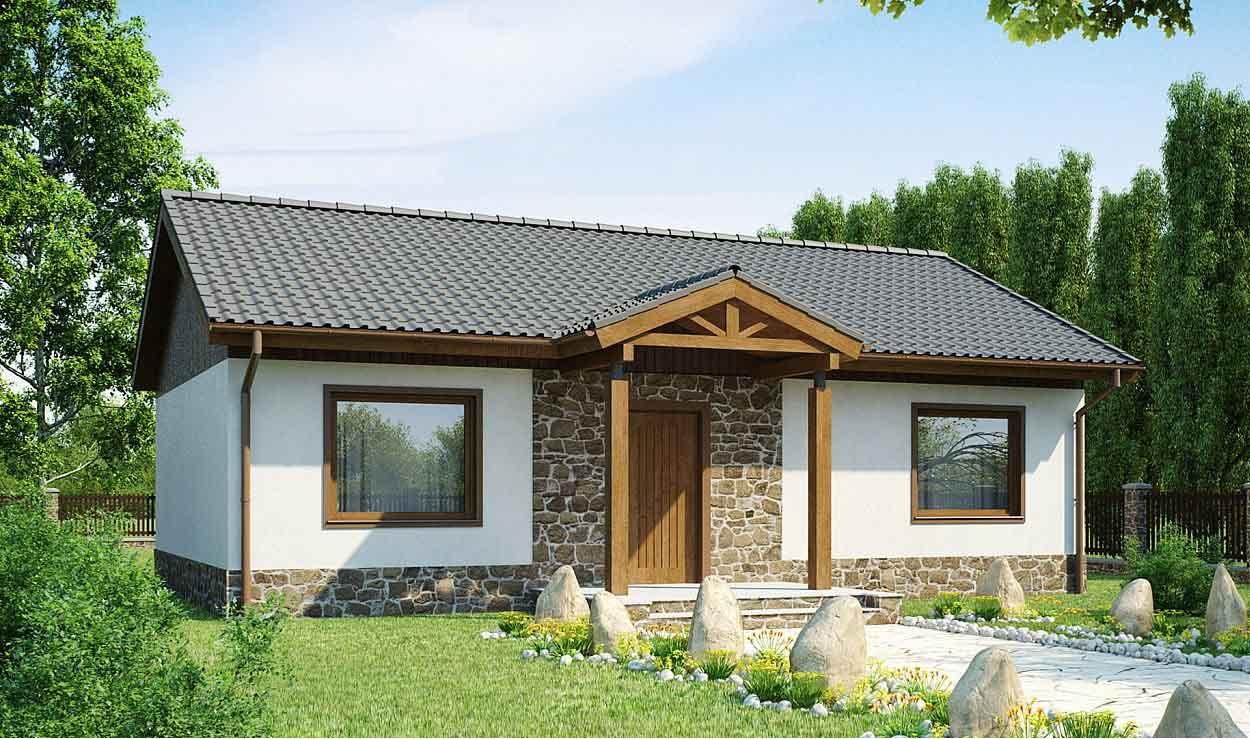 Проект одноэтажного дома из керамзитобетонных блоков в Тюмени s10-91-1
