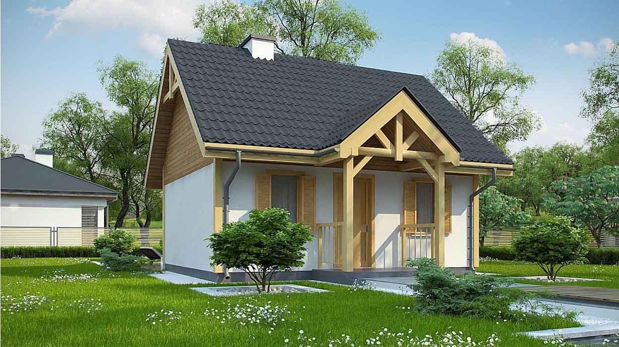 Проект одноэтажного дома из сип-панелей в Тюмени s2-48-1