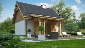 Проект одноэтажного дома из сип-панелей в Тюмени s2-48-2