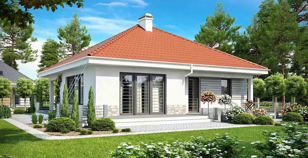 Проект одноэтажного дома из керамзитоблоков в Тюмени s24-139-2