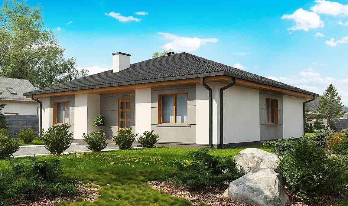 Проект одноэтажного дома из газоблоков в Тюмени s28-170-1