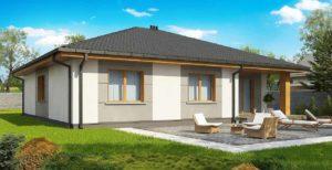 Проект одноэтажного дома из газоблоков в Тюмени s28-170-2