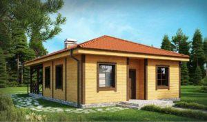 Проект одноэтажного дома из клееного бруса в Тюмени s6-82-1