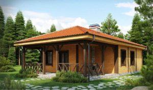 Проект одноэтажного дома из клееного бруса в Тюмени s6-82-3