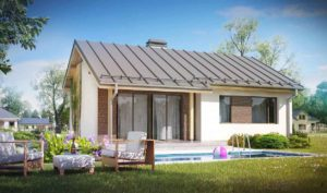Проект одноэтажного дома из кирпича в Тюмени s8-84-2