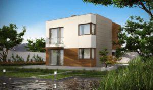 Проект дома с плоской кровлей из сип панелей в Тюмени 2