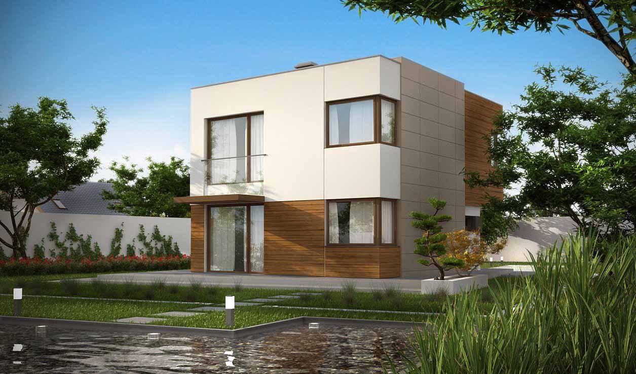 Проект дома в современном стиле ХАЙ-ТЕК в Тюмени