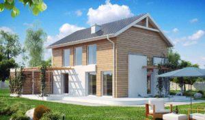Проект двухэтажного дома из бруса в Тюмени t3-160-1