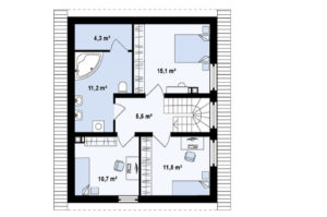 Проект двухэтажного дома из бруса в Тюмени t3-160 планировка