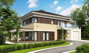 Двухэтажные дома из керамзитоблоков в Тюмени tg1-155-1
