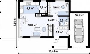 Двухэтажные дома из керамзитоблоков в Тюмени tg1-155-3
