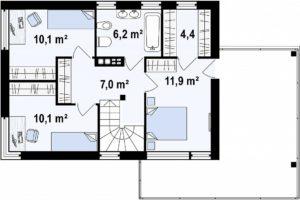 Двухэтажные дома из керамзитоблоков в Тюмени tg1-155-4