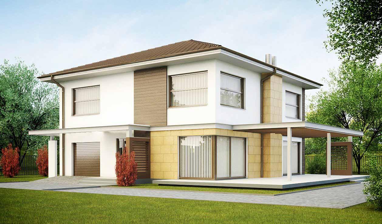 Проект двухэтажного дома из пеноблоков в Тюмени g2-235-1
