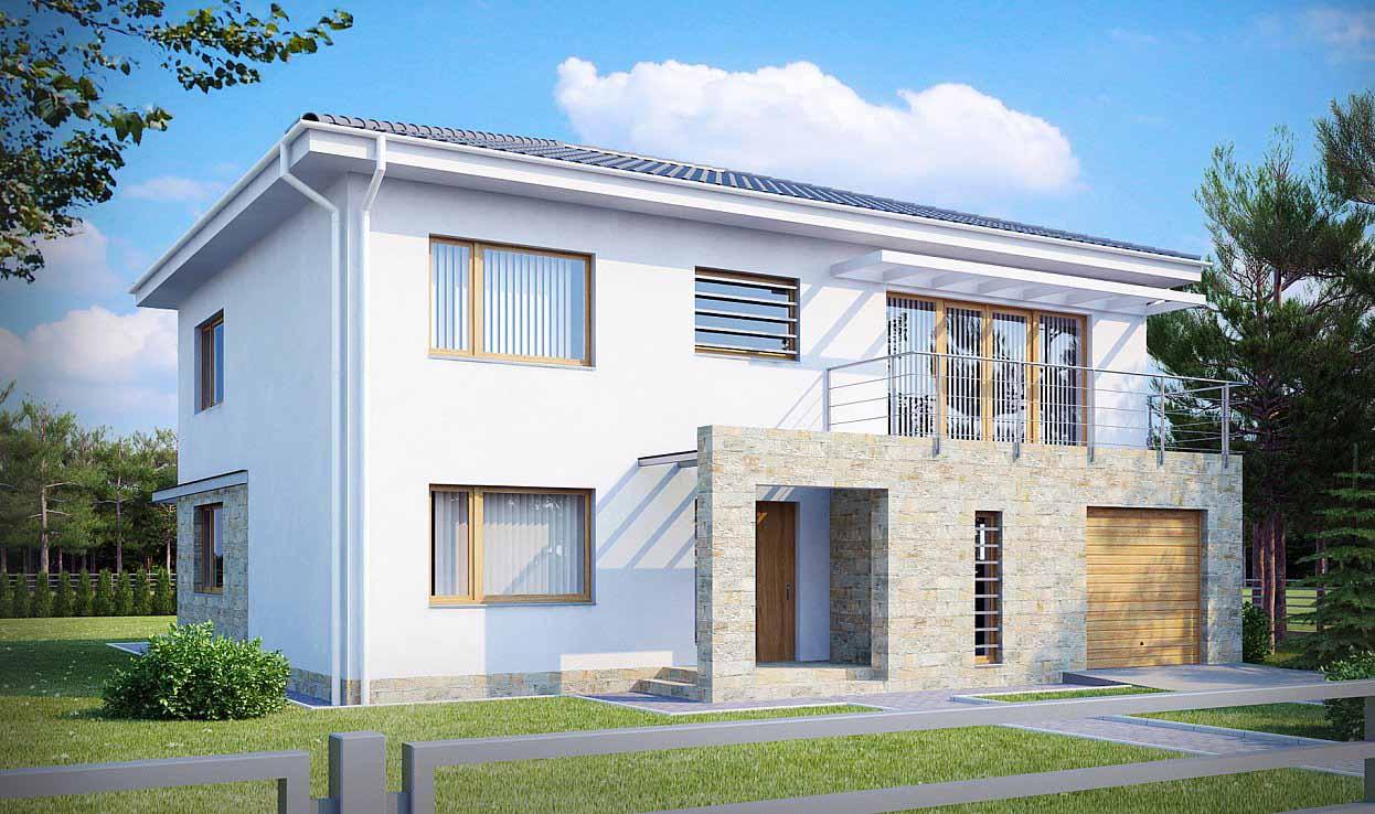 Проект двухэтажного дома из керамзитобетонных блоков в Тюмени tg3-272-1