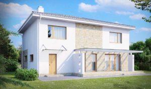 Проект двухэтажного дома из керамзитобетонных блоков в Тюмени tg3-272-2