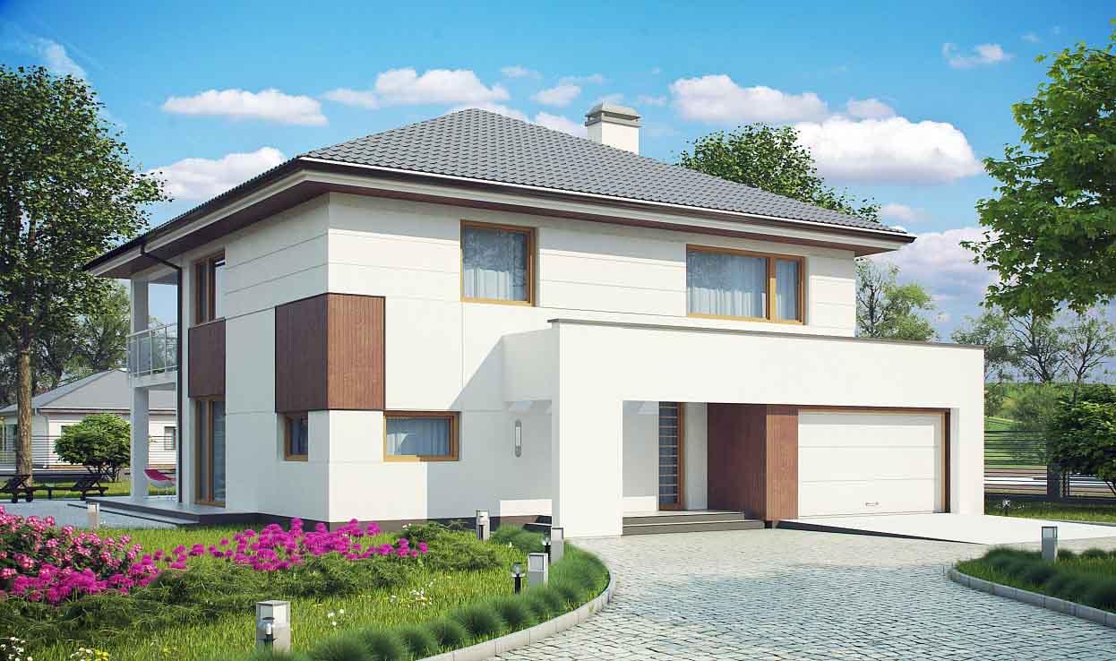 Проект двухэтажного дома из сип панелей в Тюмени tg6-324-1