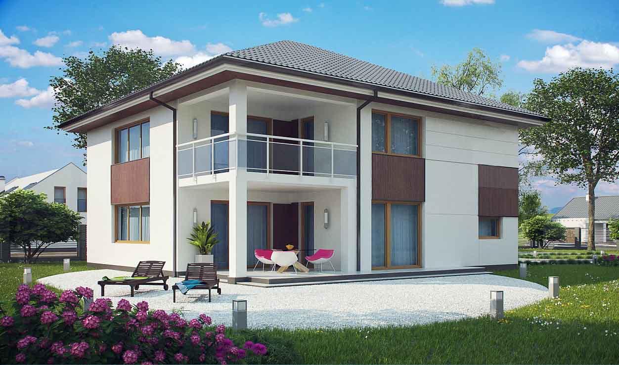 Проект двухэтажного дома из сип панелей в Тюмени tg6-324-12