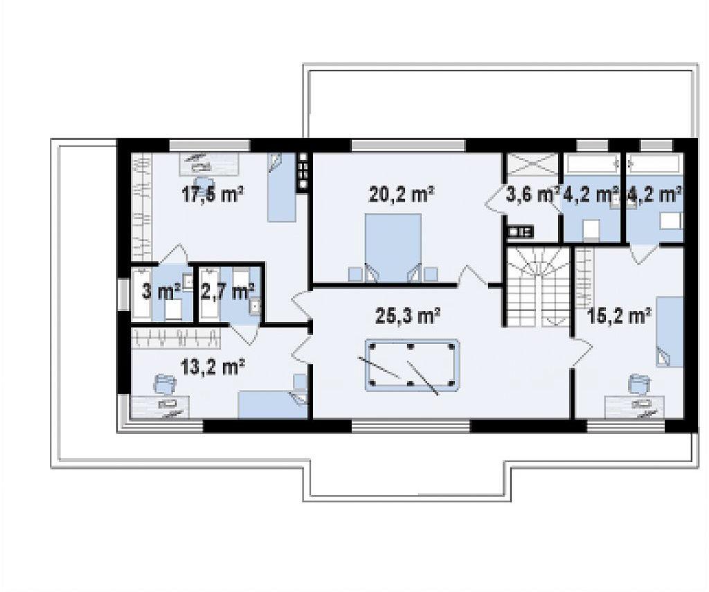 Проект кирпичного дома в Тюмени 329 планировка