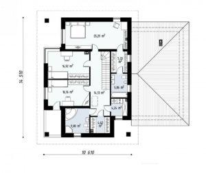 Проект двухэтажного дома из клееного бруса tg9-359 планировка в Тюмени