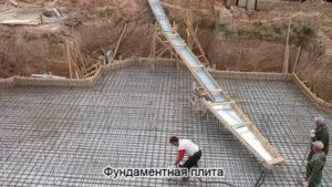 Фундаментная монолитная плита в Тюмени