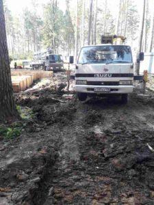 Закончены работы по заливке фундаментов в Перевалово. 3