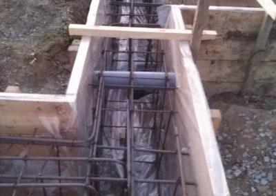 Залит ленточный фундамент в Перевалово
