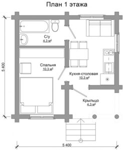 планировка дома из бревна в Тюмени