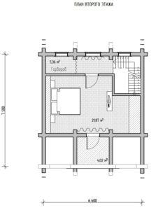 Проект бревенчатого дома с мансардой в Тюмени план