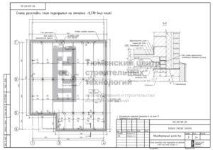 Схема раскладки плит перекрытия 1 этажа