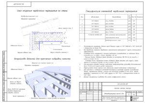 Спецификация материалов чердачного перекрытия