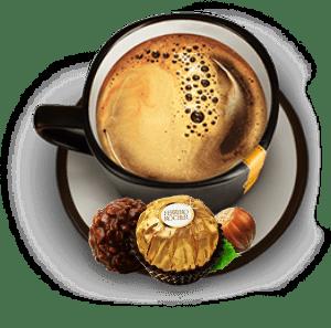 кофе с конфетками