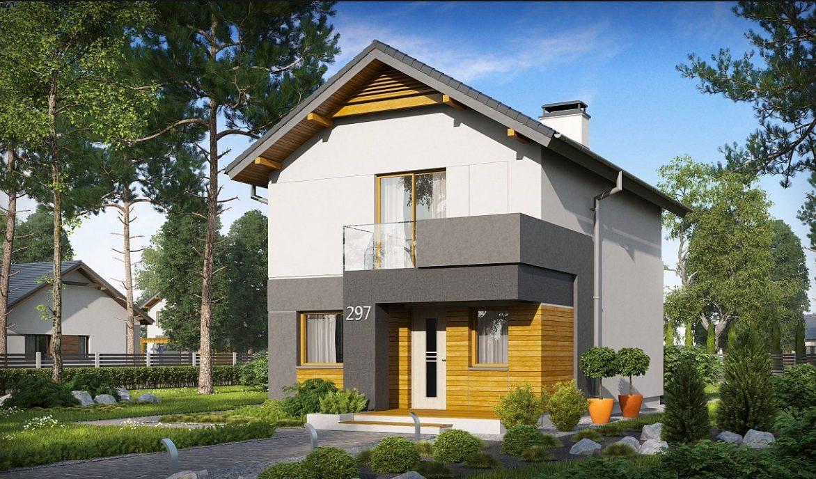 Проект двухэтажного дома из керамзитоблоков t4-129-2