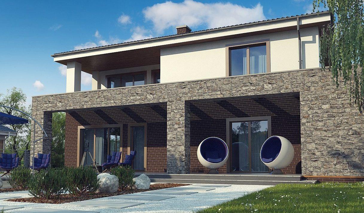 Проект дома из кирпича tg11-300-3