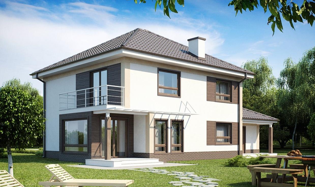 Проект дома из газобетонных блоков tg8-206